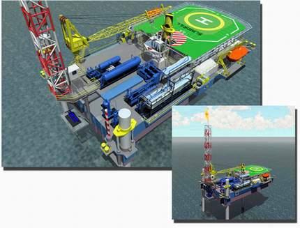 нефтяная платформа EXPRO